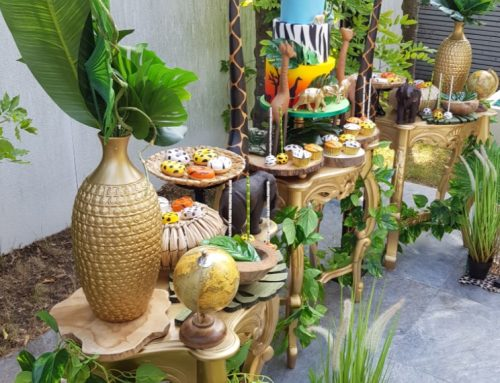 Jungle sweet table overzicht