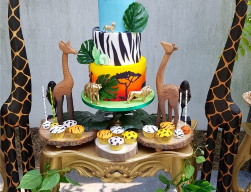 Jungle sweet table taart